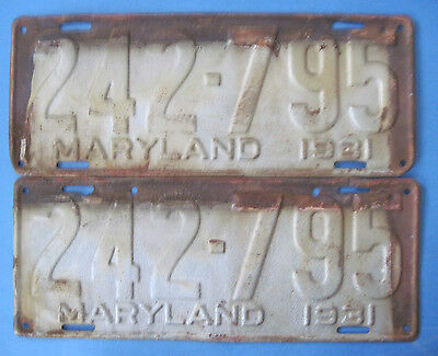 1931 Maryland license plates popular Model A year
