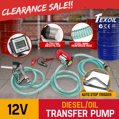 12V DC Electric Bowser Transfer Pump Diesel Oil Fuel Portable