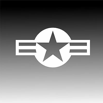 USAF Roundel Sticker Military Insignia Star and Bars Decal