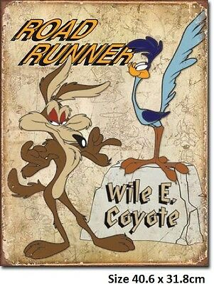 Road Runner & Wylie Coyote - Metal Tin Sign 1888  Large Variety - Post Discounts