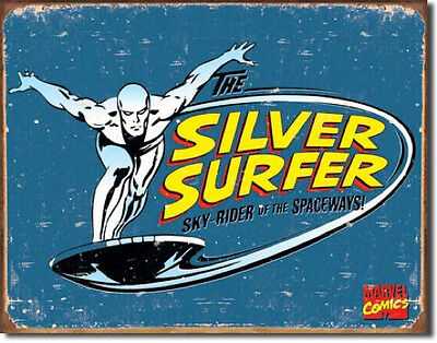Silver Surfer- Marvel- Metal Tin Sign 1439  Large Variety - Post Discounts