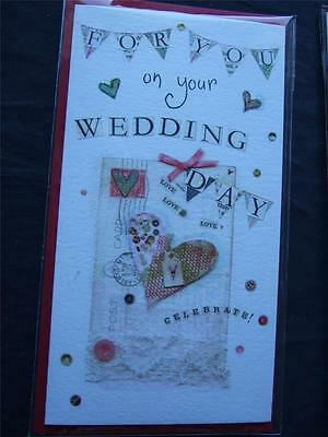Wedding Day or Congratulations.... QUALITY ~ MONEY GIFT WALLET Card + Envelope