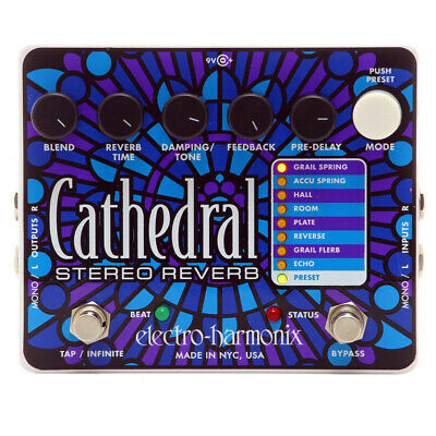 New! Electro-Harmonix Cathedral Stereo Reverb Guitar Effects Pedal