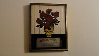 Vintage Collectible  Advertising Thermometer from Reading Florist Back Painted