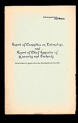 1901 Report of Committee on Entomology & Inspector of Nurseries & Orchards