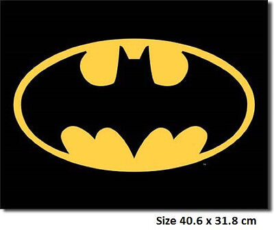 Batman Logo  Metal Tin Sign 1334   - Largest Variety  Post Discounts