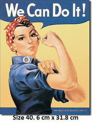 Rosie The Rivetor World War2  Metal Tin Sign 796 USA Made Not Chinese Small Copy