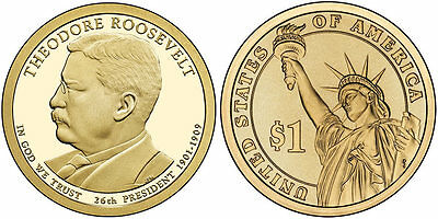2013-D Theodore Roosevelt  Presidential Dollar Coin