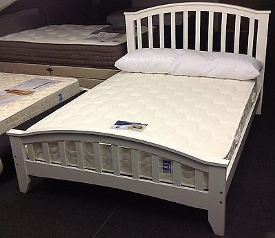 Solid Wooden White Or Maple Bed Frame - 4ft6 Double Bedstead | Brand New Beds