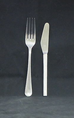 Zim Lines Silver Table Knife and Stainless Fork from Onboard - I SHIP WORLDWIDE