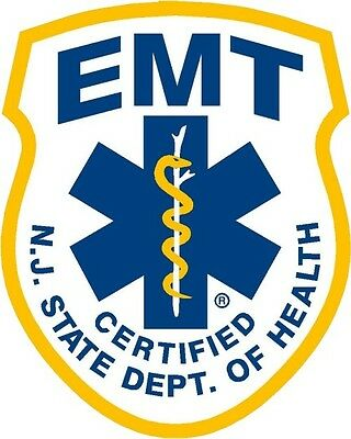 New Jersey State Certified Emt Reflective Decal