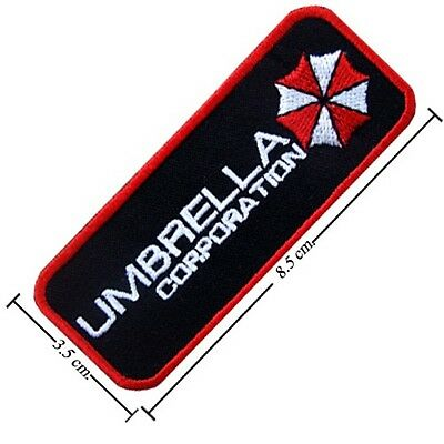 Resident Evil Umbrella Corporation Embroidery Stick Iron Sew On Patch Badge
