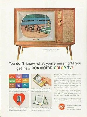 "1961 RCA Victor Color TV Television ""The Chalfont"" PRINT AD"