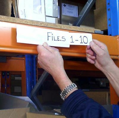 Pallet racking MAGNETIC LABELS (pack of 50)