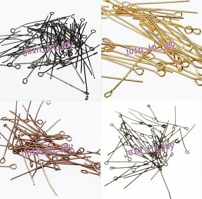 New Hotsell 5 Colors Iron Charms Eye Head Pins Fit Jewelry Making Findings 28mm