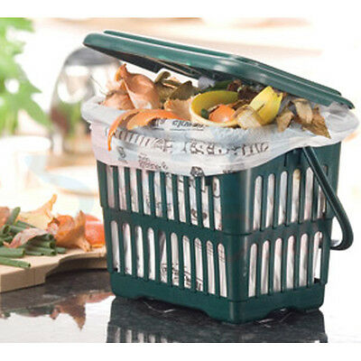 New 104 Compost Food Waste Caddy Bags Liners Biodegradable 7 Litre 7L