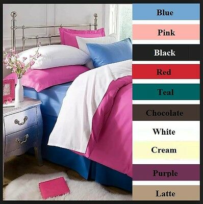 "Teal FLANNELETTE Fitted Sheet & 15"" Extra Deep Fitted Sheet Flat Sheet ,P/Cases"