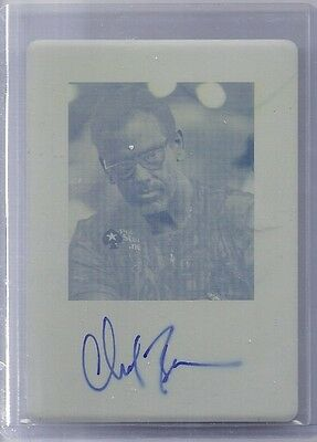 2011 Poker Leaf Chad Brown 1/1 Printing Plate Yellow Signature Autograph Ba-Cb1