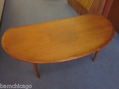 Unusual Semi Circular Danish Teak Cocktail/Occasional Table c1960s