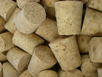 5 x Tapered Cork Bung Stopper Bottle size 13