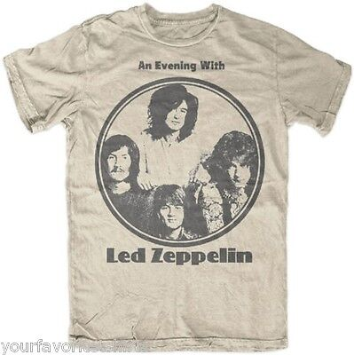 Led Zeppelin An Evening With Led Zeppelin Rock Licensed Adult T Shirt
