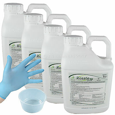 ROSATE TF STRONG GLYPHOSATE CHEMICAL WEED WEEDS KILLER 20 Ltrs (4x5Ltrs)