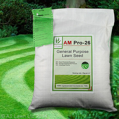 A1LAWN AM PRO-26 GENERAL PURPOSE LAWN GRASS SEED 25kg (DEFRA certified)