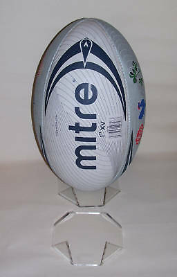 acrylic perspex  signed rugby ball display stand