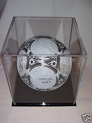 Clear Acrylic Perspex  Football Display Case Protect Your Autographed Ball