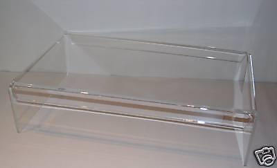 clear  perspex dvd player digi box monitor tv stand BN