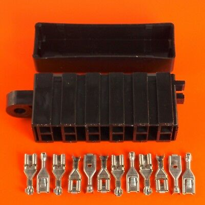 6 Way Bulkhead Blade Fuse Holder / Box, Cover And Terminals - By Lucas Rist