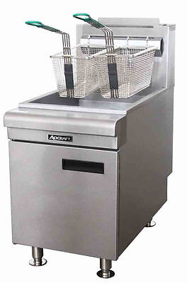Natural Gas Deep Fryer 50LB Heavy Duty Commercial NEW Warranty Adcraft CTF-75/NG