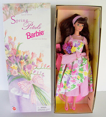 Joyful BARBIE Doll Collectible SPRING PETALS NEW Box