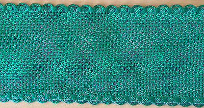 "1 m Green 16 count Aida band 2""  scallop edge"