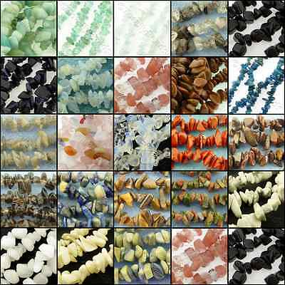 "Gemstone Chips - 32"" string - 23 types to choose: Apatite Goldstone Unakite etc."