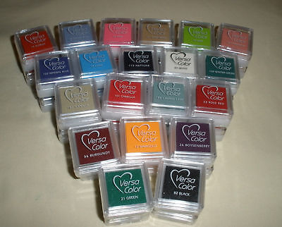 NEW VersaColor Mini Cube Pigment Ink Pad Variety Colors