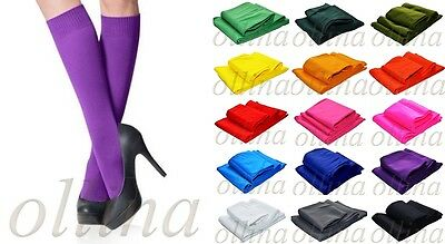Ladies Knee High Socks Various Colours Sexy Womens
