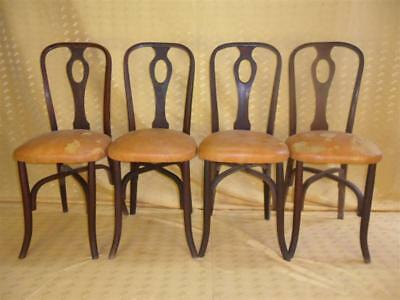 4 CHAISES 1900 / ART-NOUVEAU /chair/silla★BROCANTIC★ANTIQUITÉS/BROCANTE/OCCASION