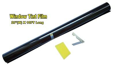 "2PLY 20"" X 10FT ROLL 5% VLT LIMO SHADE WINDOW TINTING FILM TINT  20""x10' 5% c"