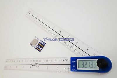 "10"" Digital Electronic Protractor Goniometer Angle Finder w/ Poly Fiber Blades"