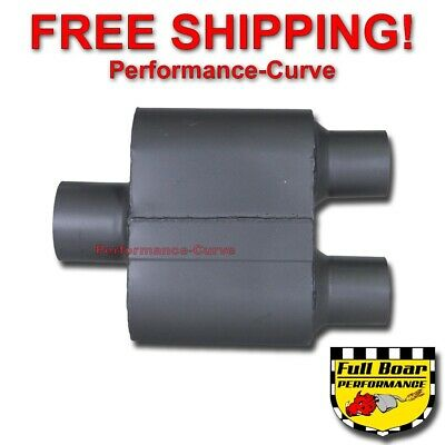 Jones Exhaust FB428 Full Boar Muffler 3 Inlet 3 Outlet 6.5 Muffler Length 12.5 O