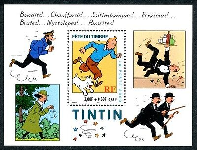 Stamp / Timbre France Bloc N° 28 ** Fete Du Timbre Tintin