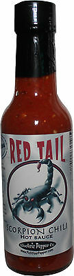 Scorpion Hot Sauce Trinidad Moruga Chili Pepper Sauce Red Tail Extra Hot 5 oz