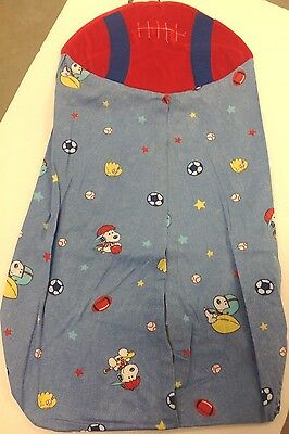 Lambs & Ivy Snoopy Sport DIAPER STACKER ball baseball glove hat cap blue red GUC