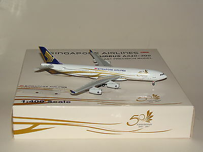 1:400 Gemini Jets Singapore Airlines A340-300 50th Anniversary free shipping