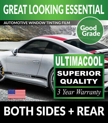 99% Uv + Superior Quality Precut Window Tint For Saab 9-3 93 2Dr Conv. 99-02