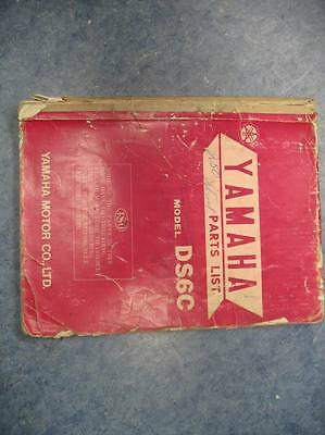 Yamaha Parts List Numbers Manual 1968 Ds6C Ds6