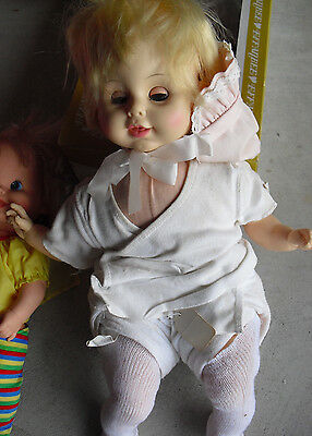 "Vintage 1967 Vinyl Cloth Horsman Blonde Baby Girl Character  Doll 18"" Tall"
