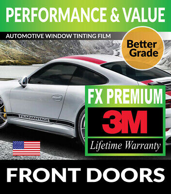 SUPERIOR QUALITY PRECUT FRONT DOORS TINT FOR NISSAN NV 200 14-18 99/% UV