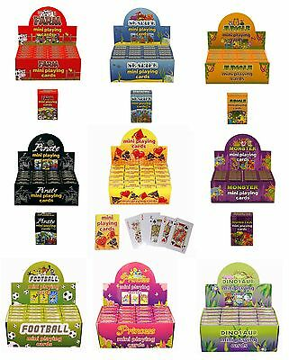 MINI PLAYING CARDS - 4 Packs - PARTY(Loot)BAG GIFTS/TOYS (Favors/Favours)